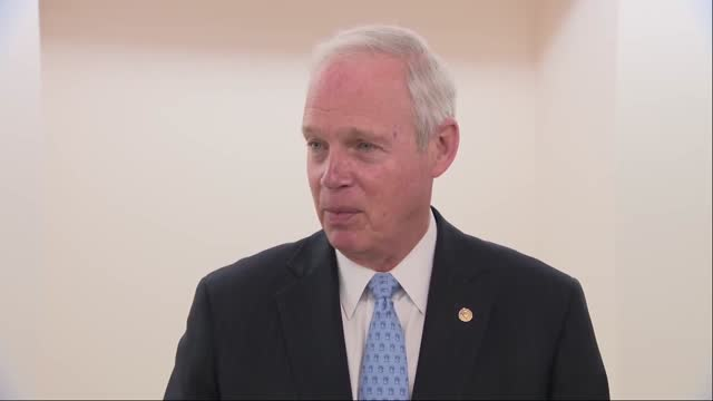 wisconsin senator ron johnson explains forcing senate clerks to read out american rescue plan on the senate floor in informal hallway interview that... - senator stock videos & royalty-free footage