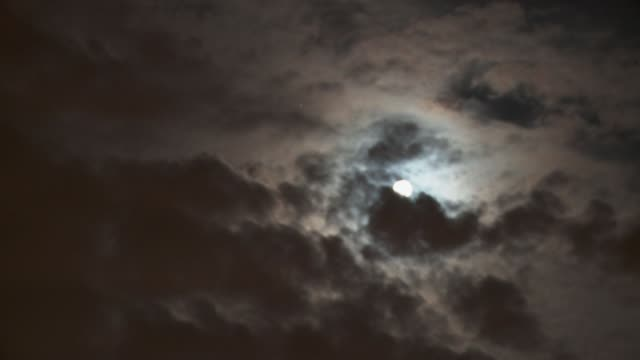 wispy clouds move across the moon in the night sky. available in hd. - wispy stock videos and b-roll footage