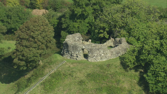 wiston castle - wales stock videos & royalty-free footage