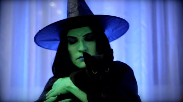 witch with her sweetheart - witch stock videos & royalty-free footage