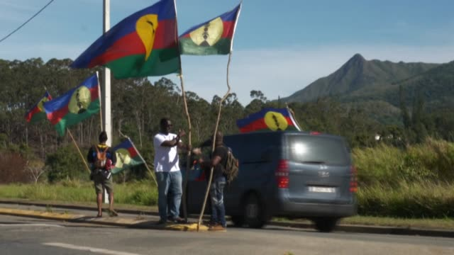 with 48 hours to go before new caledonia's independence referendum everyone is showing their colours on the french overseas territory - french overseas territory stock videos & royalty-free footage