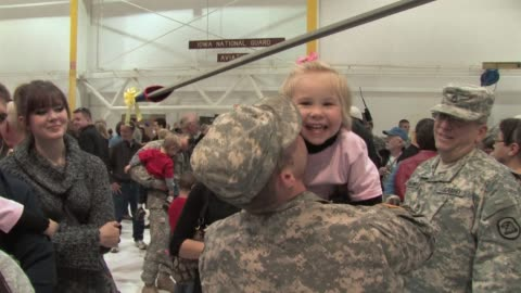 with a final pullout of troops from iraq scheduled by the end of this year, us soldiers face a bittersweet homecoming. davenport, iowa, united states. - homecoming stock videos & royalty-free footage