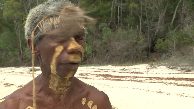iv with a fraser island aborigine speaking about what it was like having prince harry visiting the island on 23 october 2018 on fraser island... - indigenous culture stock videos & royalty-free footage