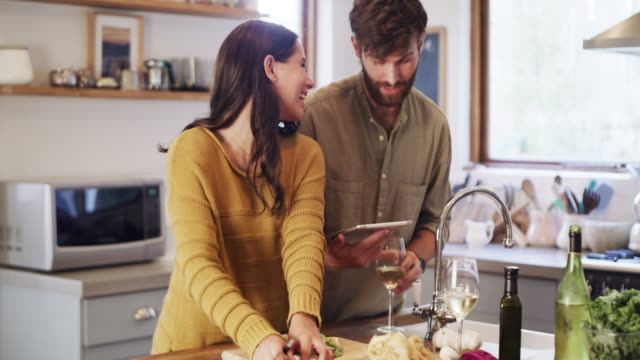 with a great wifi connection comes great recipes - couple relationship video stock e b–roll