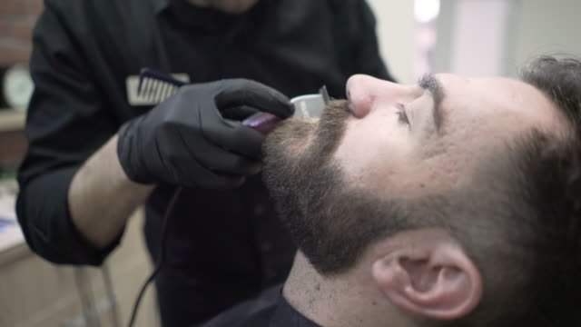 with a little help from your barber - electric razor stock videos and b-roll footage