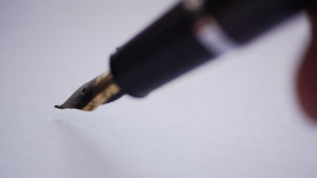 "with a pen to write ""thank you"" - english culture stock videos & royalty-free footage"