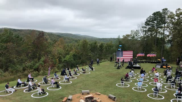 with a socially distanced audience of journalists and supporters, democratic presidential nominee joe biden speaks at the mountain top inn and resort... - nominee stock videos & royalty-free footage
