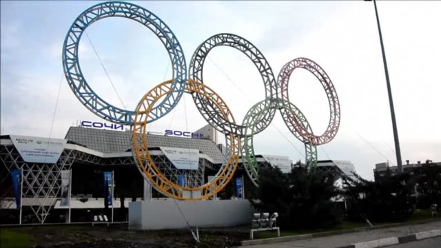 with a year to go until the sochi 2014 winter games construction work continues as tests events and world championship competitions are underway... - world championship stock videos and b-roll footage