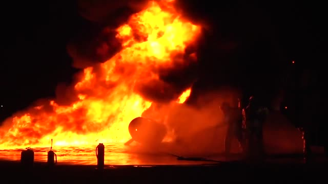 with all of the highly flammable material on a flight line, no one knows when something could go wrong. for aircraft rescue fire fighters it's... - flammable stock videos & royalty-free footage
