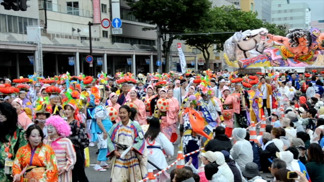 with an uncertain future the tohoku rokkon festival an annual event to bolster efforts to rebuild the 2011 disasterstricken tohoku region opened here... - nackenrolle kopfkissen stock-videos und b-roll-filmmaterial