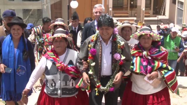 with ancestral ceremonies native music and andean rituals a museum dedicated to the rule of bolivian president evo morales opens thursday in the... - evo morales stock videos & royalty-free footage