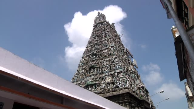 with cus of carved figures it is a temple of lord shiva with dravidian architecture built in 7th century ce 'karpagambal' – the form of shiva's wife... - hinduism stock videos & royalty-free footage