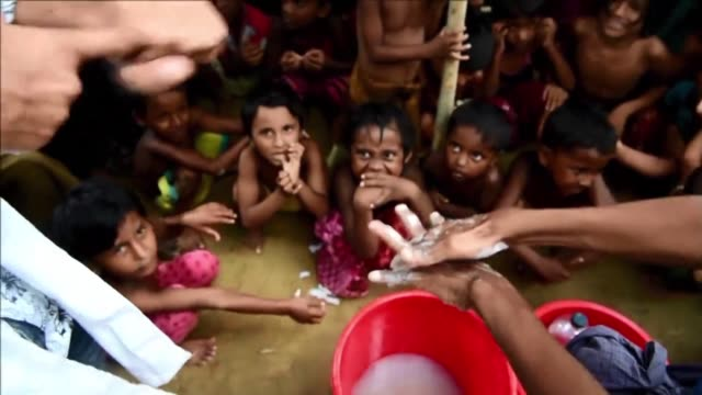 with fears of a cholera outbreak among the nearly one million rohingya living in the vast refugee camps of southeast bangladesh volunteers there are... - vibrio stock videos & royalty-free footage