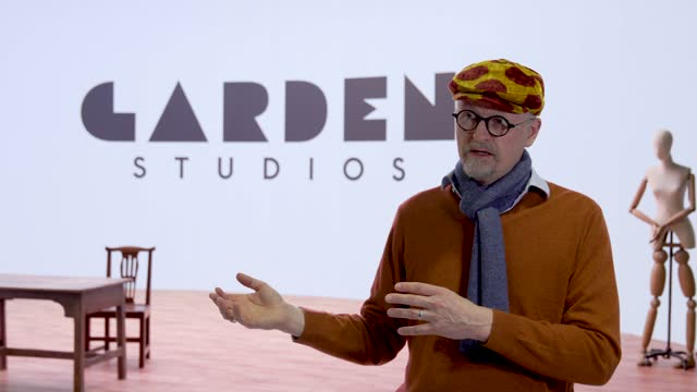 with founder and ceo of garden studios, thomas hoegh at garden studios on march 23, 2021 in london, england. the state of the artvirtual production... - 創始者点の映像素材/bロール