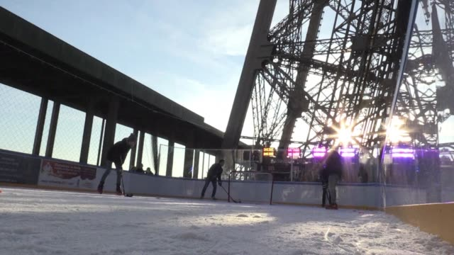 with france set to co host the 2017 ice hockey world championships along with neighbours germany the french ice hockey federation and the city of... - championships stock videos & royalty-free footage