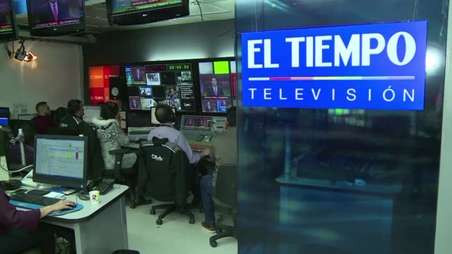 with his signal taken off the air in venezula by order of the government the director of el tiempo television in colombia fears an escalation of... - censorship stock videos and b-roll footage