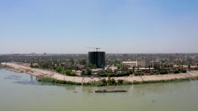 with its neighbours activating new dams iraq's historic twin rivers could run dry unless new infrastructure projects and tense talks with turkey and... - basra stock videos & royalty-free footage