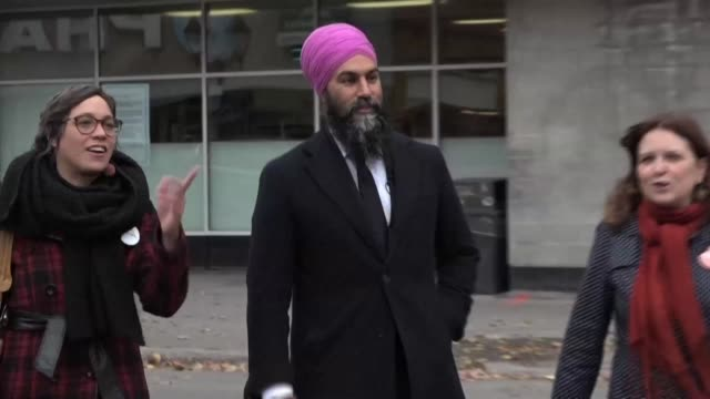 with just days to go until canada's election day left leaning new democratic party candidate jagmeet singh walks around montreal to meet with voters... - election stock videos & royalty-free footage