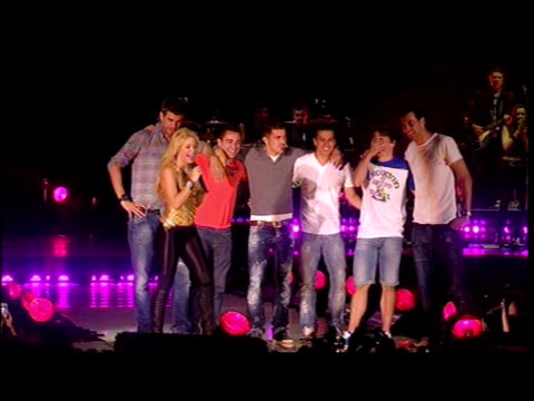 with members of the Barcelona Football team Shakira Performs in Concert on June 01 2011 in Barcelona Spain