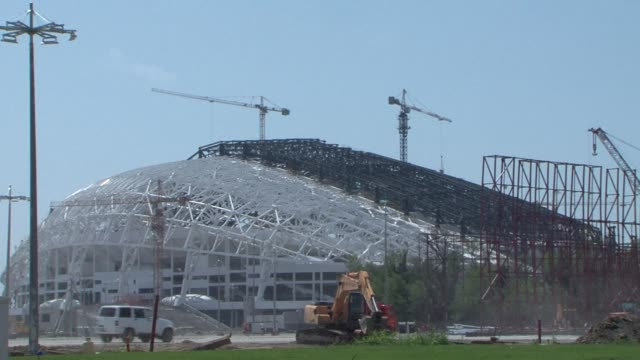 vídeos y material grabado en eventos de stock de with only six months to go until the start of the winter olympics on february 7 2014 the city of sochi is currently one of the biggest construction... - sochi