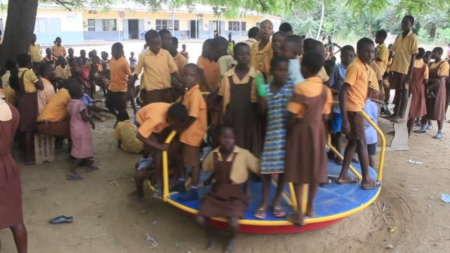 with power outages a regular occurrence in ghana, playground equipment on one island community is being used to generate electricity - occurrence stock videos & royalty-free footage
