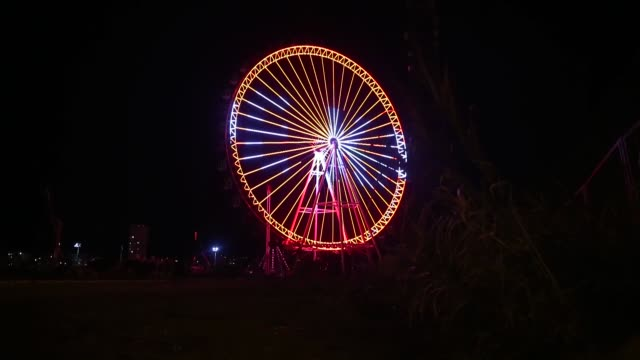 """with the 90-meter high ferris wheel located in the konyaalti district of antalya, a warning """"evde kal"""" was issued to the citizens to stay in their... - contracting stock videos & royalty-free footage"""