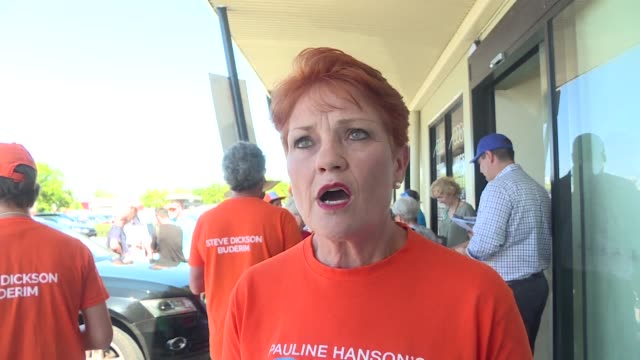 stockvideo's en b-roll-footage met with the cost of living surging and high unemployment in regions australia's divisive one nation party has capitalised on voter frustrations finding... - pauline hanson