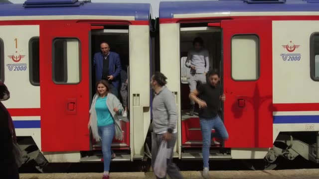 with the onset of winter more and more people are hopping aboard the eastern express a dedicated rail line between turkey's capital ankara and the... - kars stock videos & royalty-free footage