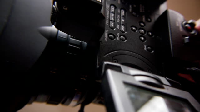 with the video camera. - movie camera stock videos & royalty-free footage