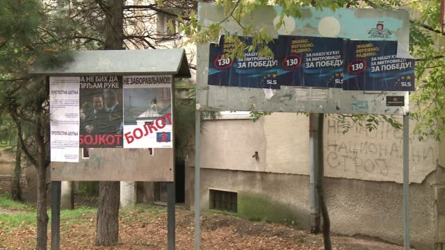 with two weeks to go until local elections in kosovo ethnic serbs in the north are torn between boycotting the vote organised by pristina whose... - pristina stock videos and b-roll footage