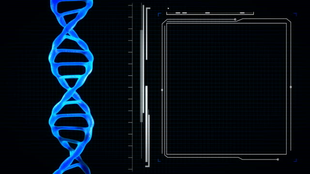 4K-DNA With Your Text-Seamless Loopable - Stock video