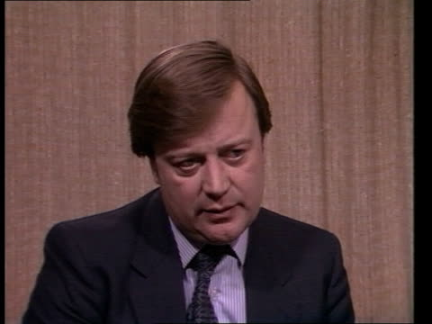 withdrawn drugs cms kenneth clarke interview sof these four have either only one that works  cas ex lib/eng 137mins tx - kenneth clarke stock-videos und b-roll-filmmaterial