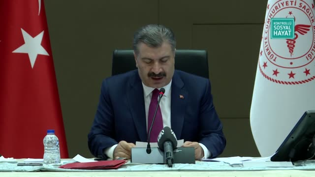 within days the number of turkey's daily covid-19 tests will reach 100 said the country's health minister on wednesday. at a news conference... - number 9 video stock e b–roll