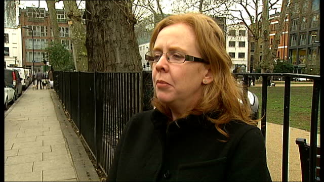 witness awarded half and million pounds in compensation after address given out to gang members england london ext fiona murphy interview sot - witness stock videos & royalty-free footage