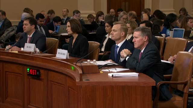 witness fiona hill tells california congressman devin nunes at the seventh public impeachment hearing of president donald trump by the house select... - witness stock videos & royalty-free footage