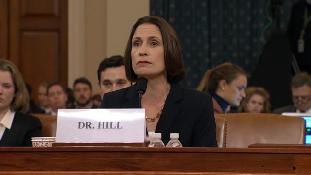 witness fiona hill tells members of the house select intelligence committee at its seventh public impeachment hearing against president donald trump... - democracy stock videos & royalty-free footage