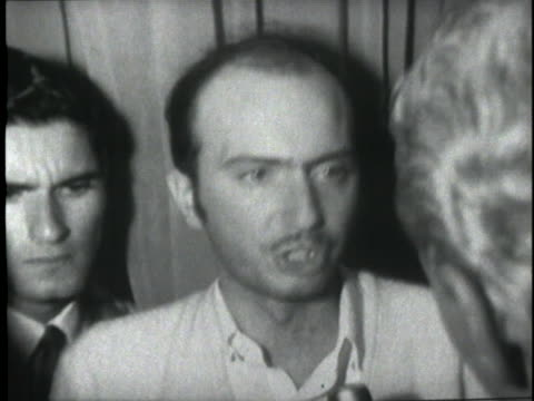 witness gabor kadar says the shooter at the ambassador hotel must have been waiting for senator robert f. kennedy, and shot three people. - witness stock videos & royalty-free footage