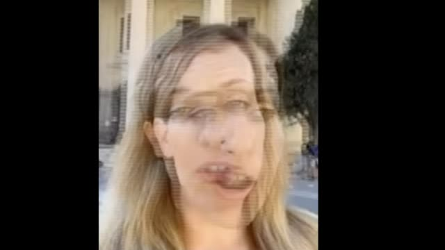 witness in malta journalist murder trial found with knife wounds malta ext rebecca vincent speaking to camera sot - crime and murder stock videos & royalty-free footage