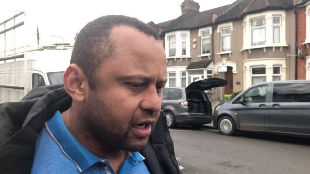 witness louis o'donoghoe describes the aftermath of the seven kings stabbings as forensics investigate the scene where three men were stabbed to... - ilford stock videos & royalty-free footage