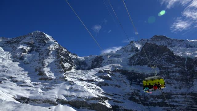 Wixi Ski Lift, Mönch and Jungfrau, Grindelwald, Bernese Oberland, Canton of Bern, Switzerland