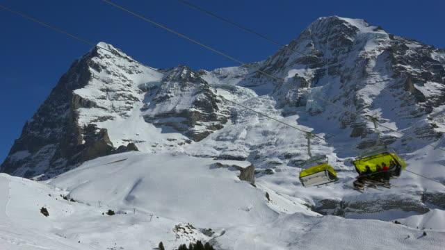 Wixi Skilift, Eiger and Mönch, Kleine Scheidegg, Grindelwald, Bernese Oberland, Canton of Bern, Switzerland