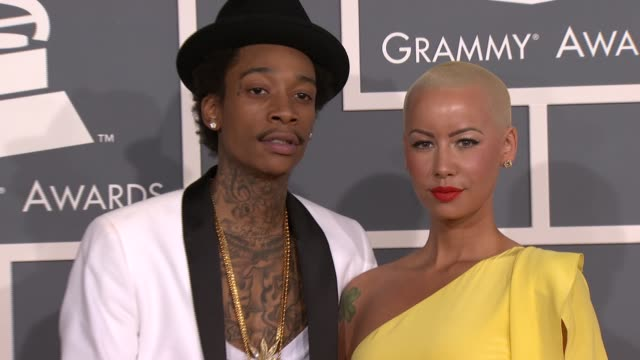 Wiz Khalifa Amber Rose at 54th Annual GRAMMY Awards Arrivals on 2/12/12 in Los Angeles CA