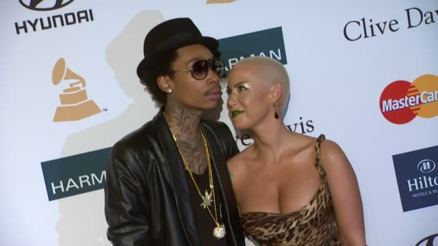 Wiz Khalifa Amber Rose at Clive Davis And The Recording Academy's 2012 PreGRAMMY Gala And Salute To Industry Icons Honoring Richard Branson on...