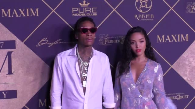 Wiz Khalifa and Izabela Guedes at The 2017 MAXIM Hot 100 Party at Hollywood Palladium on June 24 2017 in Los Angeles California