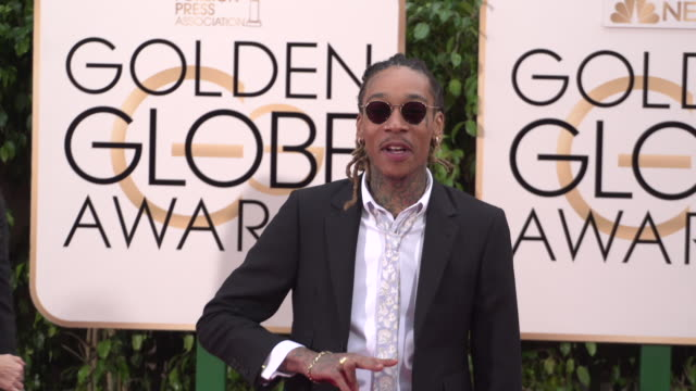 Wiz Khalifa at 73rd Annual Golden Globe Awards Arrivals at The Beverly Hilton Hotel on January 10 2016 in Beverly Hills California 4K