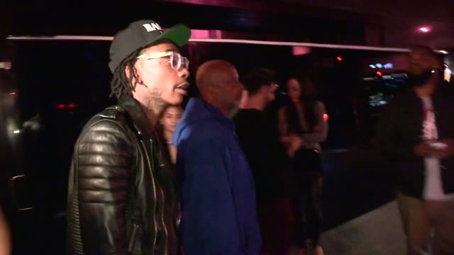Wiz Khalifa on Miley Cyrus 21st Twerking Birthday exiting the Drake concert after party at Bootsy Bellows in Los Angeles Celebrity Sightings in Los...