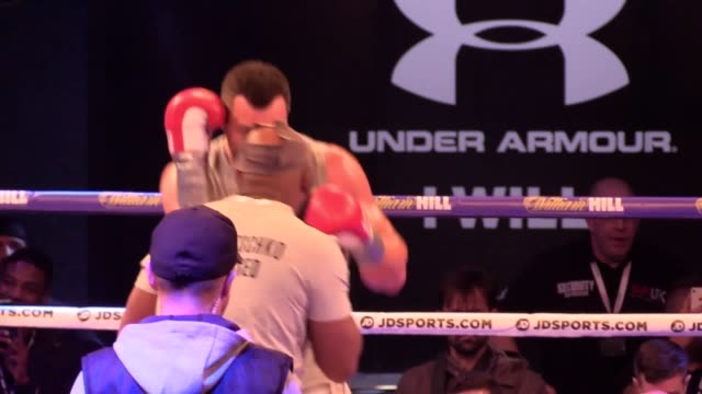 wladimir klitschko public workout ahead of his fight against anthony joshua at wembley arena london on april 29 - anthony joshua boxer stock videos & royalty-free footage