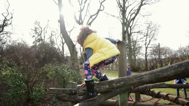 wobble wobble! - climbing frame stock videos & royalty-free footage