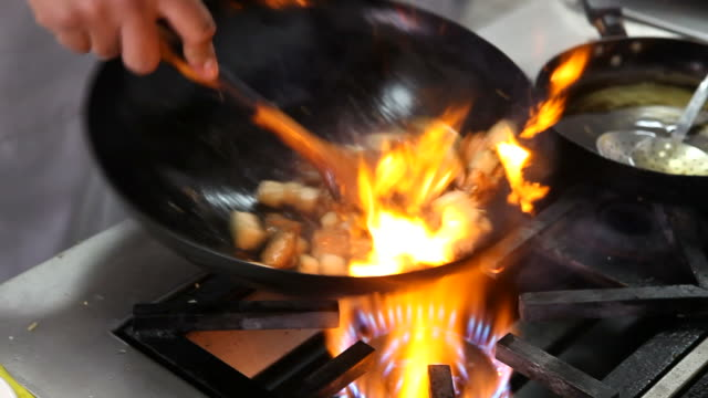 wok frying - chinese food stock videos & royalty-free footage