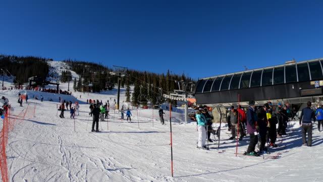 wolf creek ski resort, colorado, usa - ski resort stock videos & royalty-free footage